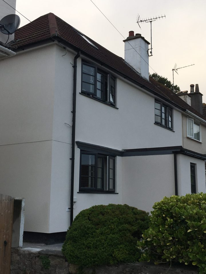 External Wall Insulation project in Falmouth,Cornwall